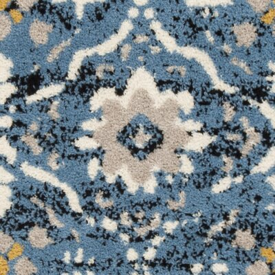 Dalrymple Blue/Cream Area Rug Rug Size: Square 67