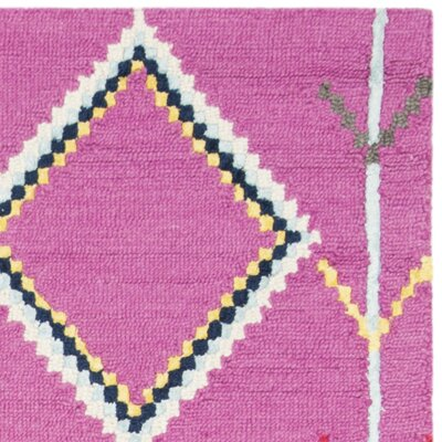 Carolwood Hand Tufted Wool Fuchsia Area Rug Rug Size: Rectangle 4 x 6