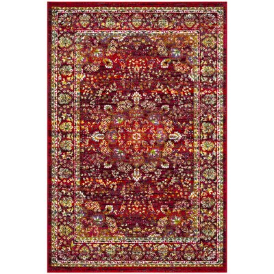 Attayac Red Area Rug Rug Size: Rectangle 4 x 6