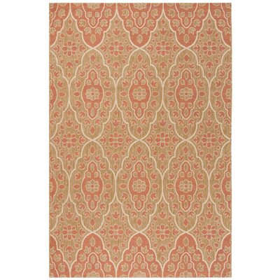 Tulip Medallion Beige Area Rug Rug Size: Rectangle 53 x 77
