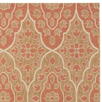 Kurt Trlellis Natural/Beige Area Rug Rug Size: Rectangle 67 x 96