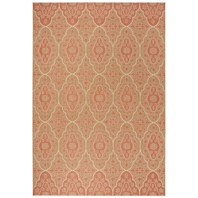 Tulip Medallion Beige Area Rug Rug Size: Rectangle 67 x 96