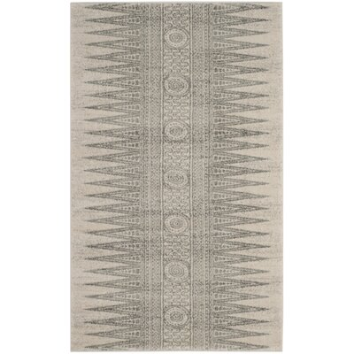 Elson Rectangle Ivory/Silver Area Rug Rug Size: Rectangle 2'2