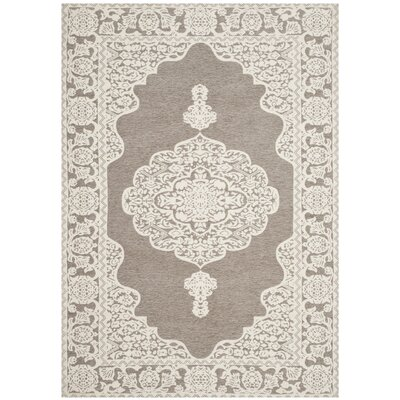 Marbella Hand-Woven Light Gray/Ivory Area Rug Rug Size: Rectangle 3 x 5