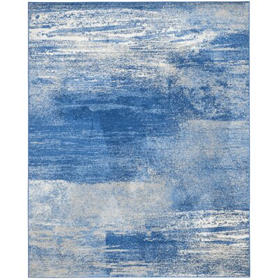 Costa Mesa Silver/Blue Area Rug Rug Size: Rectangle 51 x 76