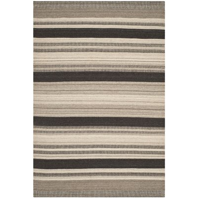Dhurries Brown/Ivory Area Rug Rug Size: Rectangle 6 x 9