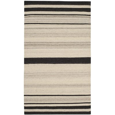 Dhurries Natural/Grey Moroccan Area Rug Rug Size: Rectangle 3' x 5'