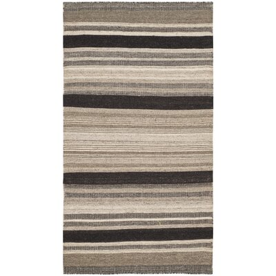 Dhurries Brown/Ivory Area Rug Rug Size: Rectangle 3 x 5