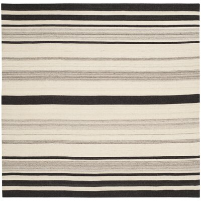 Dhurries Natural/Grey Moroccan Area Rug Rug Size: Square 6'