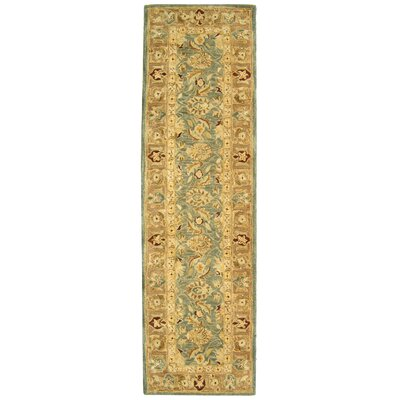 Anatolia Blue / Brown Area Rug Rug Size: Runner 23 x 12