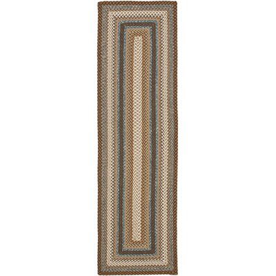 Georgina Hand-Woven Brown Area Rug Rug Size: Runner 23 x 12
