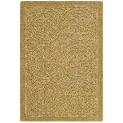 Cambridge Hand-Tufted Light Gold Area Rug Rug Size: 2 x 3