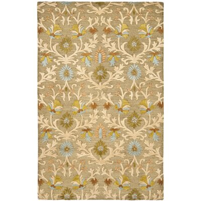 Parker Lane Hand-Tufted Wool Moss/Beige Area Rug Rug Size: Rectangle 6 x 9