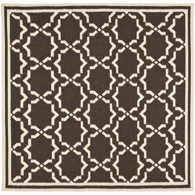 Dhurrie Chocolate Area Rug Rug Size: Square 6