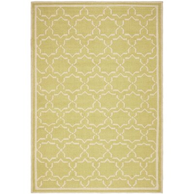 Dhurries Beige Area Rug Rug Size: Rectangle 6 x 9