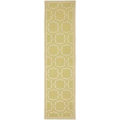 Dhurries Beige Area Rug Rug Size: Runner 26 x 12