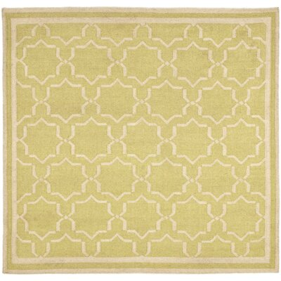Dhurries Beige Area Rug Rug Size: Square 8