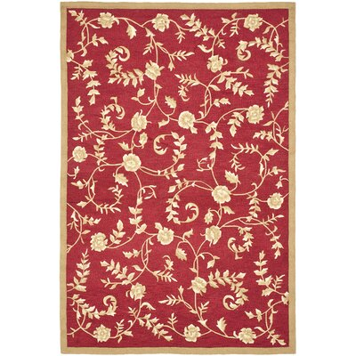DuraArea Rug Red/Gold Area Rug Rug Size: Rectangle 3 x 5