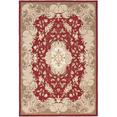 DuraArea Rug Red/Sage Area Rug Rug Size: Rectangle 3' x 5'