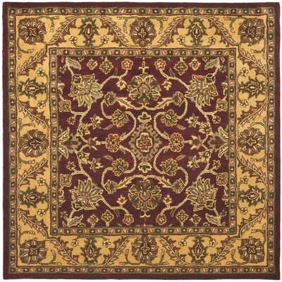 Golden Jaipur Burgundy/Gold Area Rug Rug Size: Square 6
