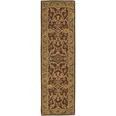 Golden Jaipur Gold/Rust Area Rug Rug Size: Runner 23 x 8