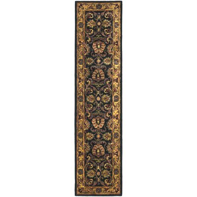 Golden Jaipur Antiquity Black/Gold Area Rug Rug Size: Runner 23 x 12