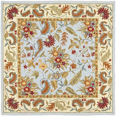 Light Blue Area Rug Rug Size: Square 8'