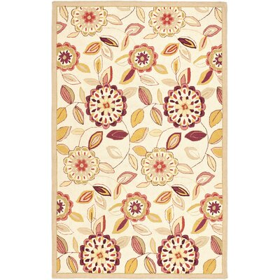 Chelsea Ivory/Taupe Area Rug Rug Size: 3'9