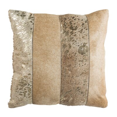 Yareli Throw Pillow Color: Beige/Gold