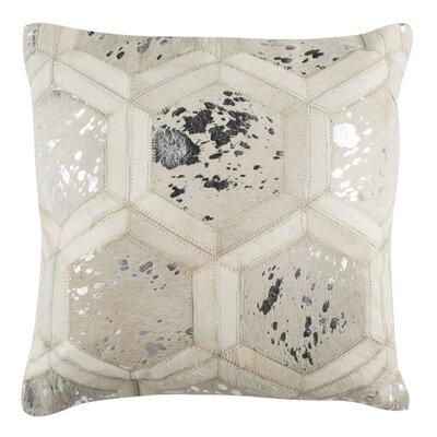 Jordynn Metallic Natural Throw Pillow Color: White/Silver