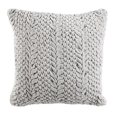 Dandridge 100% Cotton Throw Pillow Size: 20 H x 20 W, Color: Light Grey