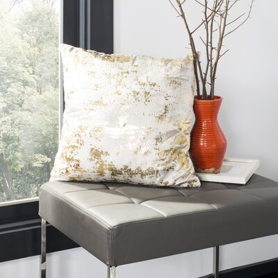 Wyona Throw Pillow Color: Beige/Gold, Size: 20 H x 20 W