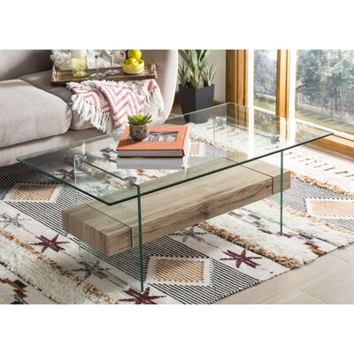 Christen Modern Glass Coffee Table