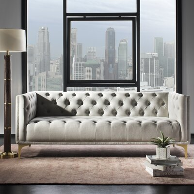 Enoch Tufted Sofa Upholstery: Light Gray