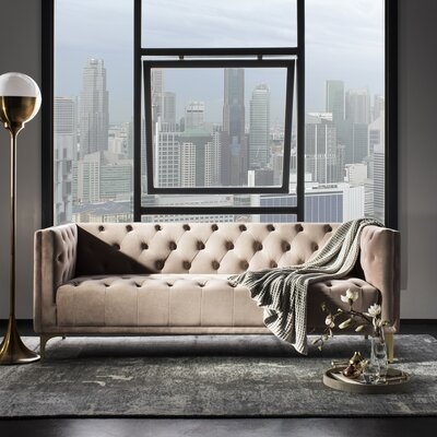 Enoch Tufted Sofa Upholstery: Dusty Rose