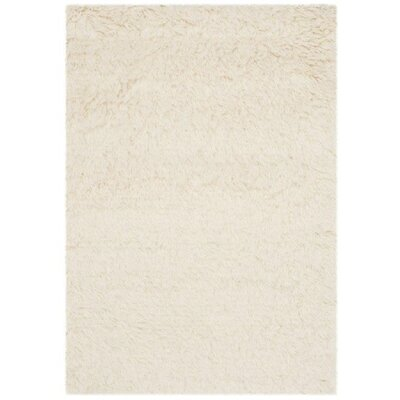 Flokati Hand-Tufted Wool Ivory Area Rug Rug Size: Rectangle 2 x 3