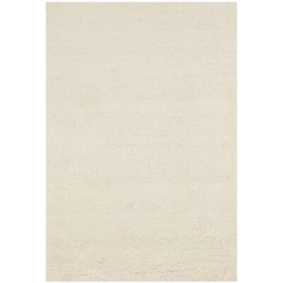 Flokati Hand-Tufted Wool Ivory Area Rug Rug Size: Rectangle 5 x 8