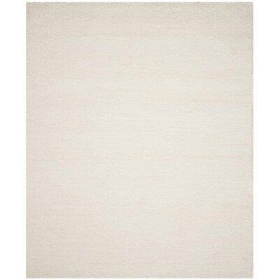Flokati Hand-Tufted Wool Ivory Area Rug Rug Size: Rectangle 8 x 10