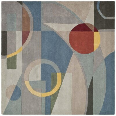 Rodeo Drive Blue Area Rug Rug Size: Square 8