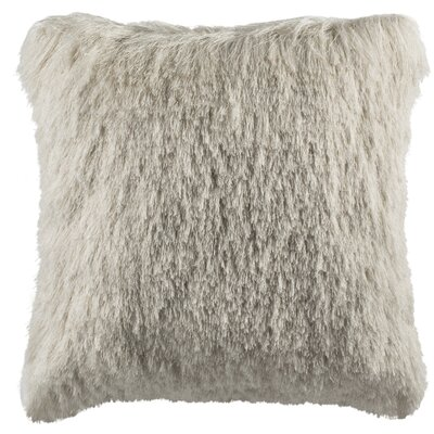 Beachdale Chic Shag Throw Pillow Color: Ivory