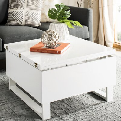 Wangaratta Lift-Top Coffee Table with Storage Color: White