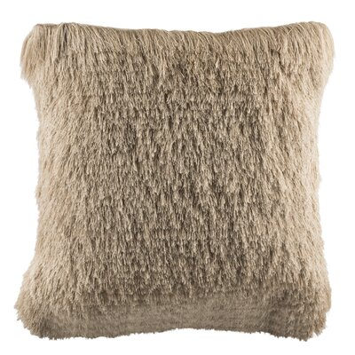 Beachdale Chic Shag Throw Pillow Color: Beige