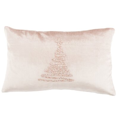 Briggsvale Enchanted Evergreen Lumbar Pillow Color: Peach