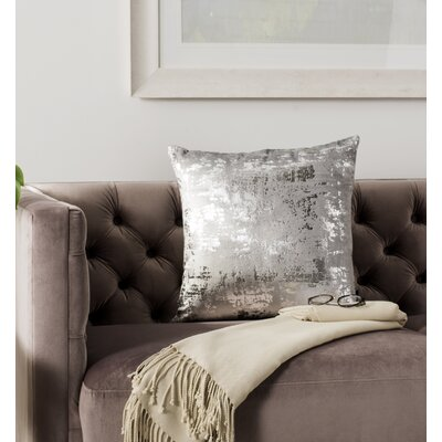 Wyona Throw Pillow Color: Light Grey/Silver, Size: 20 H x 20 W