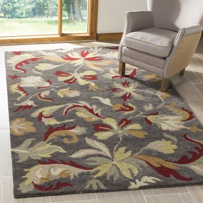 Jardin Dark Grey/Multi Rug Rug Size: Rectangle 4 x 6