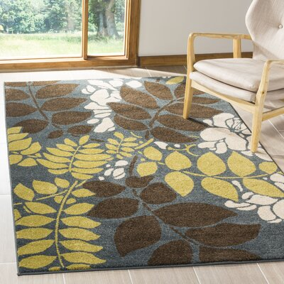 Newport Blue/Brown Area Rug Rug Size: Rectangle 8 x 10