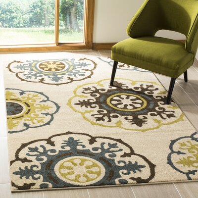 Newport Ivory Area Rug Rug Size: Rectangle 3 x 5