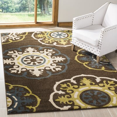 Newport Brown/Green Area Rug Rug Size: Rectangle 51 x 76