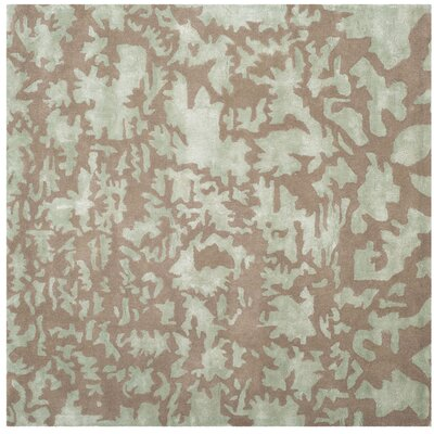 Soho Hand-Tufted Wool Taupe Area Rug Rug Size: Square 6