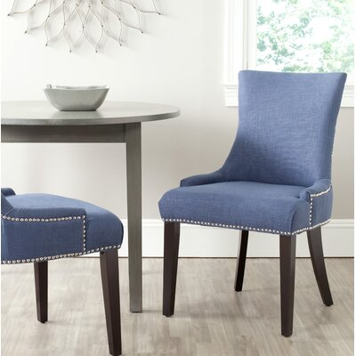 Carraway Upholstered Dining Chair Upholstery Color: Fabric Royal Blue